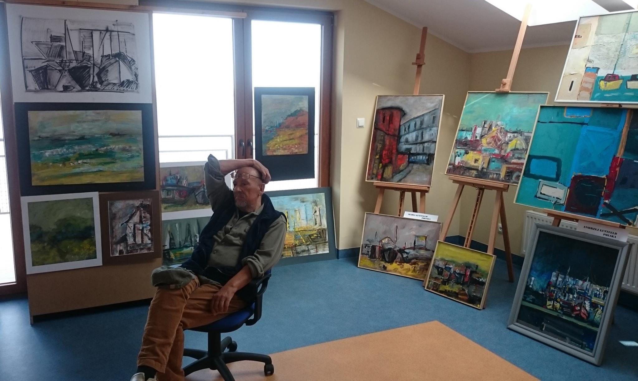 Prof. Guttfeld beim Internationalen Künstlertreffen 2015 in Puck. (© Ula Stachowiak)